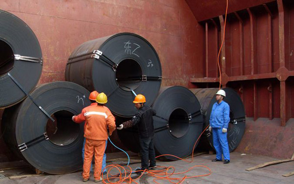 Export 1400 ton API 5L Grade B steel coil to Thailand with